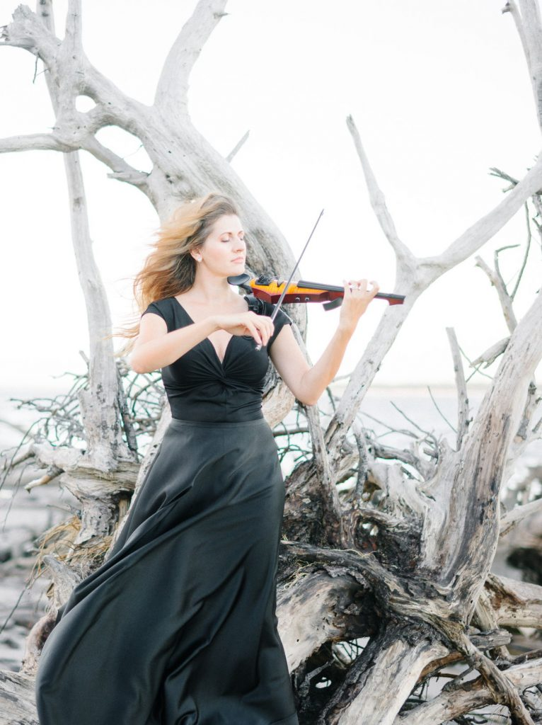 musician and electric violin