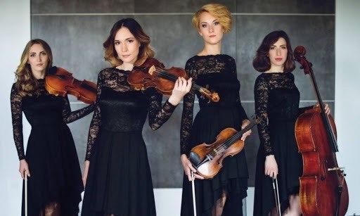 string quartet in black